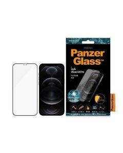 PanzerGlass Pro E2E Super+ iPhone 12/12 Pro Case Friendly AntiBacterial MicroFracture czarny/black