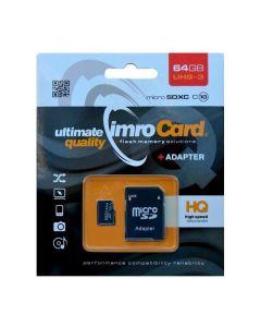 Karta pamięci microSDXC 64GB Imro+ adp 10C UHS-3