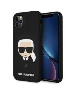 Karl Lagerfeld KLHCN65SLKHBK iPhone 11 Pro Max czarny/black hardcase Silicone Karl`s Head