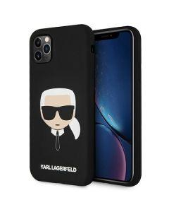 Karl Lagerfeld KLHCN61SLKHBK iPhone 11 czarny/black hardcase Silicone Karl`s Head